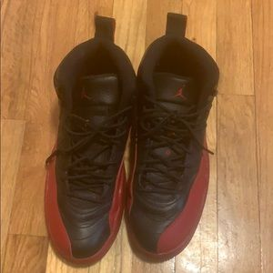 Jordan 12s black and red